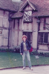 Me, in front of Shakespeare's birthplace, Fall 1987