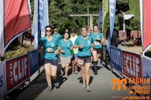 Team Miles of Smiles crossing the finish line