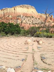 The labyrinth at the AROHO retreat, Ghost Ranch, NM