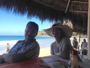 My brother and my niece, in Chacala, Mexico