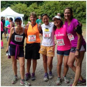 Some of my Ragnar team, after the Chuckanut Foot Race