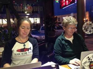 The Skedgers (two of us, anyway) at a write out
